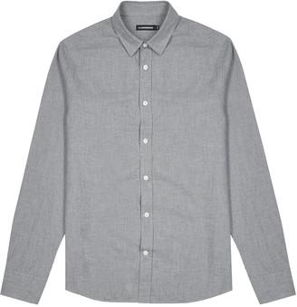 J. Lindeberg Flannel grey brushed cotton shirt