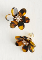 Petal Down Earrings in Amber