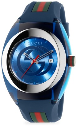 Gucci Sync Stainless Steel Rubber-Strap Watch