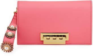 Zac Posen Earthette Pearly Sunburst Leather Clutch Bag
