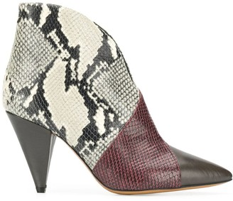 Isabel Marant curved ankle boots