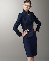 Valentino Wool-Silk Pencil Skirt