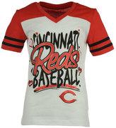 5th & Ocean Girls' Cincinnati Reds Team Glitter T-Shirt