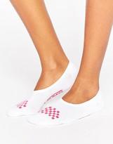 Vans Invisible Socks 3Pk In White & Pink