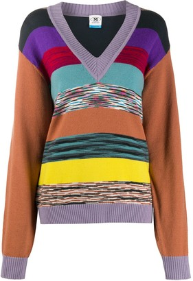 M Missoni Striped Knit Jumper