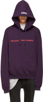 Vetements Purple 'Sexual Fantasies' Hoodie