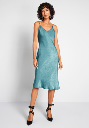 No Brand Shown Take Notice Satin Slip Dress