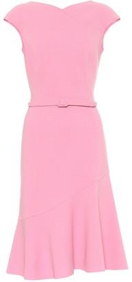 Oscar de la Renta Stretch-wool crepe dress