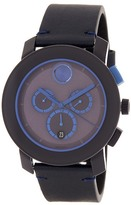 Movado Men&s Chronograph Leather Strap Watch