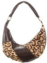 Casadei Ponyhair & Leather Shoulder Bag