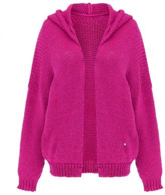 You By Tokarska Soft Sweater Akane With Hood Fuchsia