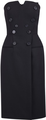 Givenchy Buttoned Strapless Dress