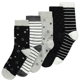 George 5 Pack Fashion Socks