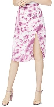 BCBGeneration Tie Dyed Satin Pencil Skirt