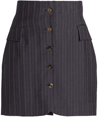 Acne Studios Ivet Pinstripe Mini Skirt