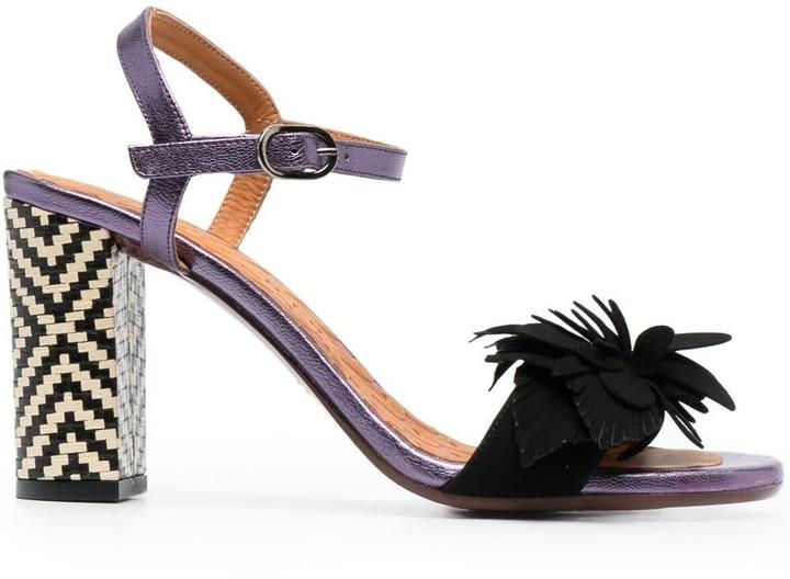 Chie Mihara Floral-Detail High-Heel Sandals