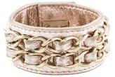 Chanel Embellished Turn-Lock Cuff Bracelet