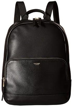 KNOMO London Mayfair Luxe Mini Mount Backpack (Black) Backpack Bags