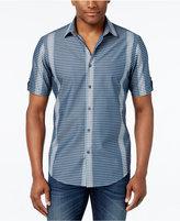 Alfani Men's Multi-Stripe Short-Sleeve Shirt, Only at Macy's