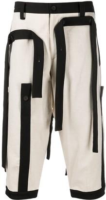 Yohji Yamamoto Strap Detail Shorts