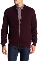 Peter Werth Long Sleeve Front Zip Knit Jacket