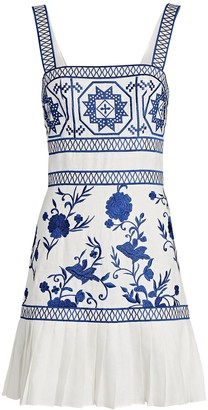 Alexis Asteria Embroidered Sleeveless Mini Dress