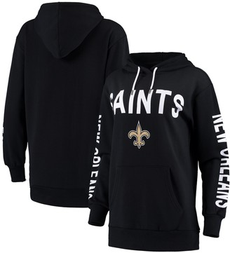 G Iii Women's G-III 4Her by Carl Banks Navy New Orleans Saints Extra Point Pullover Hoodie