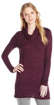 Three Dots Women's Sequoia Slub Funnel Neck Tunic