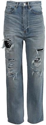 Balenciaga Ripped Denim Pants