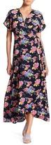 Bobeau Short Sleeve Print Maxi Dress