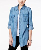 Style&Co. Style & Co. Denim Front-Pocket Tunic Shirt, Only at Macy's