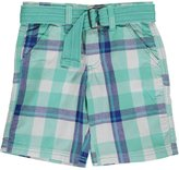"Akademiks Little Boys' Toddler ""Plaid Crossfade"" Belted Shorts"