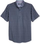 American Rag Men's Foulard Print Short Sleeve Shirt, Created for Macy's
