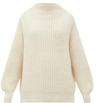 LAUREN MANOOGIAN Fisherwoman Mock-neck Alpaca-blend Sweater - Womens - White