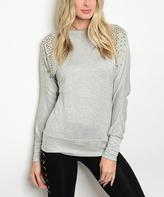 Gray Studded Sweatshirt