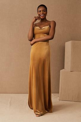 Jenny Yoo Sammi Velvet Dress By in Yellow Size 2