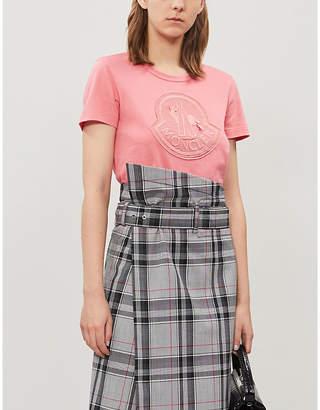 Moncler Crewneck logo-print cotton-jersey T-shirt