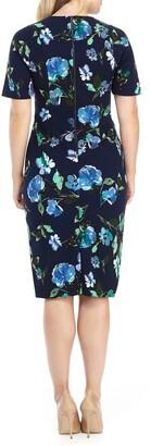 Maggy London Latoya Floral Print Midi Dress