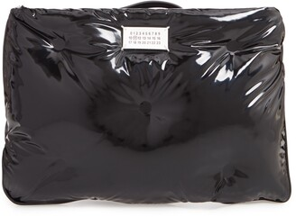 Maison Margiela Glam Slam Patent Faux Leather Wristlet