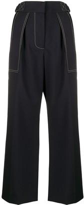 Marni Contrast-Stitch Wide-Leg Trousers