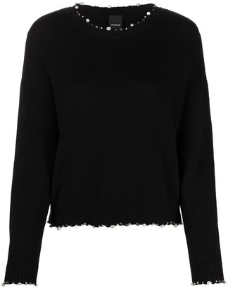 Pinko Bead-Embellished Knitted Jumper