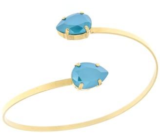 Rosaspina Firenze Azure Blue Double Drop Bangle