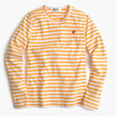 Comme des Garcons striped heart T-shirt