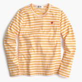 J.Crew Comme des Garçons® striped heart T-shirt