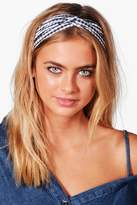 Boohoo Maria Gingham Check Turban Headband