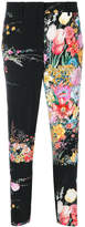 No.21 floral cropped trousers