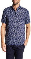 Toscano Leaf Print Regular Fit Shirt