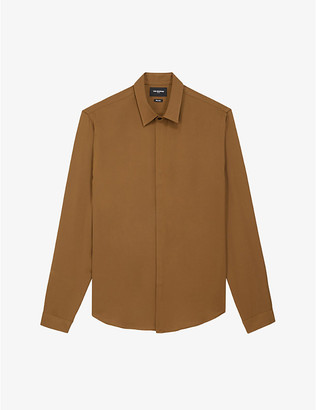The Kooples Concealed-buttons crepe shirt