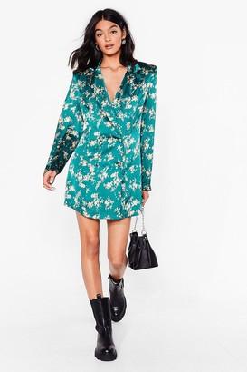 Nasty Gal Womens Nothing Bud a Goodtime Blazer Mini Dress - Dark Green