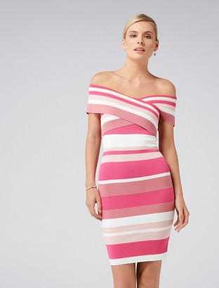 Ever New Arianna Striped Bardot Dress